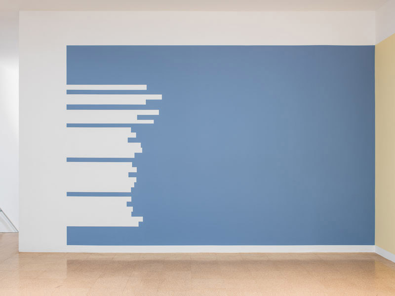 "Jorge Mendez Blake, Untitled (Valery's ""El Cementerio Marino""), 2012, paint on wall, dimensions variable"