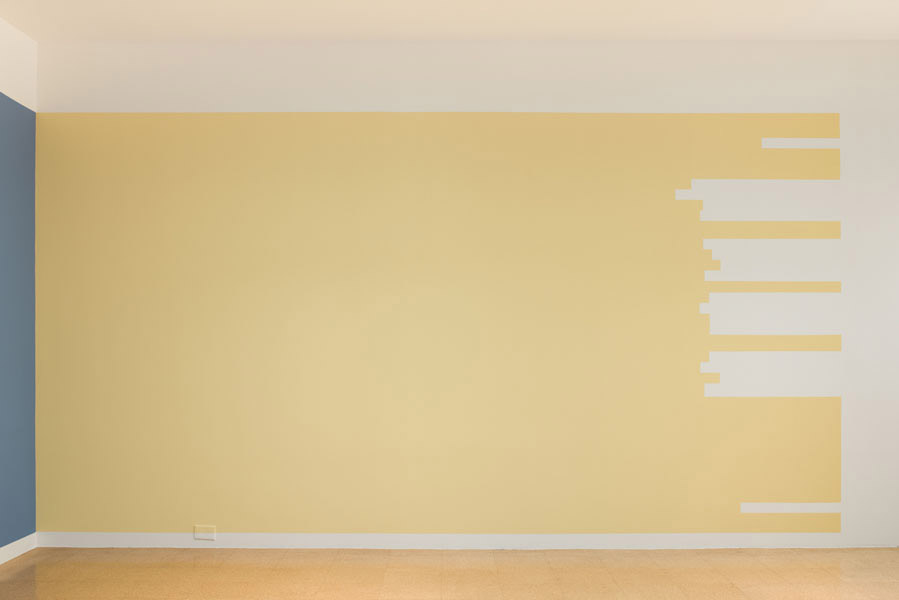 """Jorge Mendez Blake, Untitled (Crane's """"At Melville's Tomb""""), 2012, paint on wall, dimensions variable"""