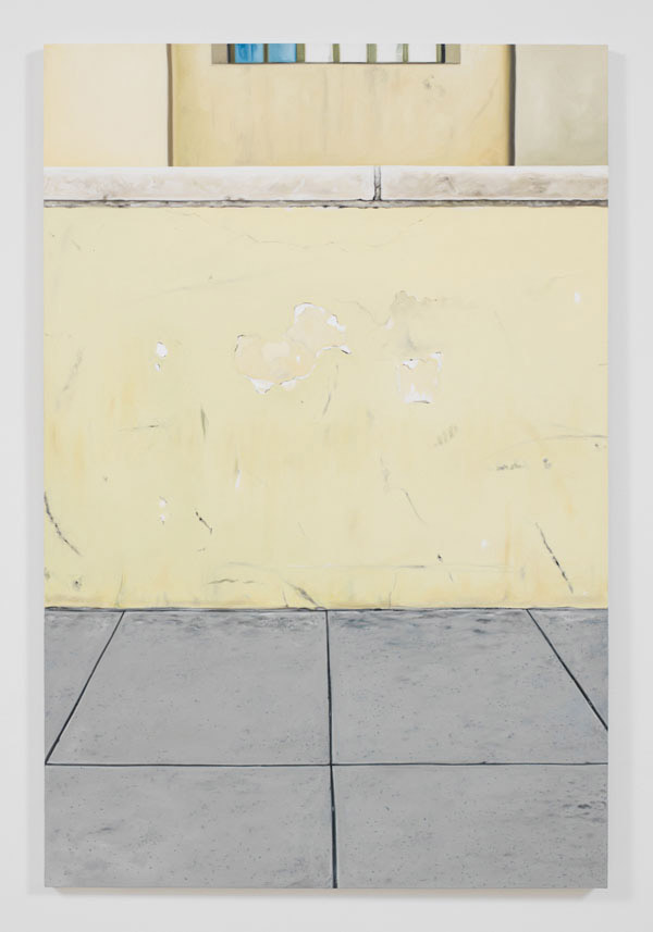 Jorge Mendez Blake, Monument on a Library Wall II (Los Angeles Central Library), 2012, oil and acrylic on canvas, 47.24 x 31.5 inches