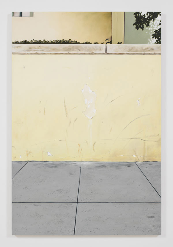 Jorge Mendez Blake, Monument on a Library Wall III (Los Angeles Central Library), 2012, oil and acrylic on canvas, 47.24 x 31.5 inches