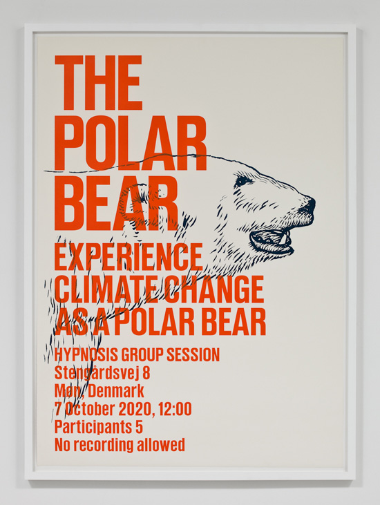 SUPERFLEX, Experience Climate Change As A Polar Bear, 2009 silkscreen print 31.5 x 43 inches