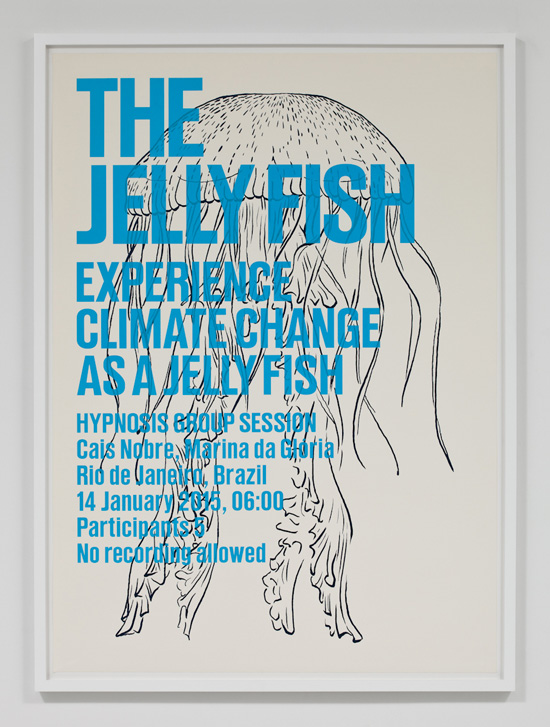 SUPERFLEX, Experience Climate Change As A Jelly Fish, 2009 silkscreen print 31.5 x 43 inches