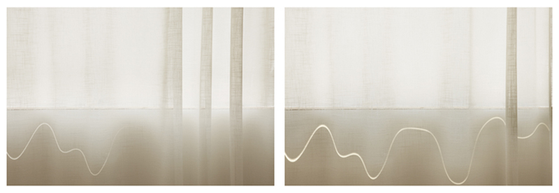 Uta Barth, ...and to draw a bright white line with light (Untitled 11.1) , 2011 inkjet prints face-mounted against matte acrylic, framed in painted aluminum frames 38 x 114 3/4 inches