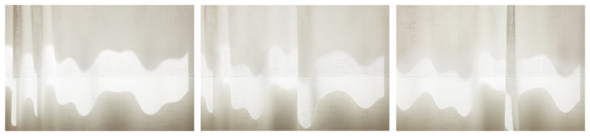 Uta Barth, ...and to draw a bright white line with light (Untitled 11.4) , 2011 inkjet prints face-mounted against matte acrylic, framed in painted aluminum frames 38 x 172 1/2 inches