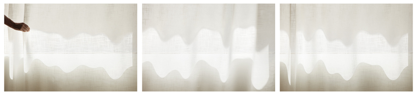 Uta Barth, ...and to draw a bright white line with light (Untitled 11.5) , 2011 inkjet prints face-mounted against matte acrylic, framed in painted aluminum frames 38 x 172 1/2 inches