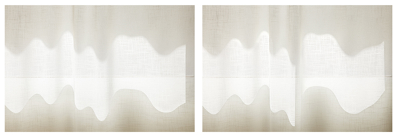 Uta Barth, ...and to draw a bright white line with light (Untitled 11.7) , 2011 inkjet prints face-mounted against matte acrylic, framed in painted aluminum frames 38 x 114 3/4 inches