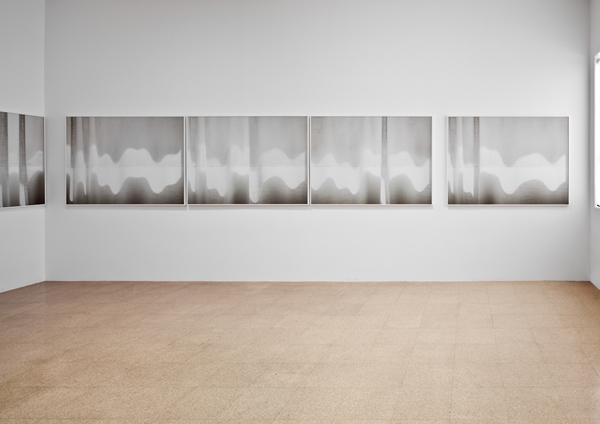 Uta Barth, ...and to draw a bright white line with light (Installation view upstairs 1301PE) , 2011
