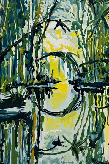 Kirsten Everberg, Rio de Janeiro (detail), 2011, oil and enamel on canvas, 72 x 60 inches, 182.9 x 152.4 cm