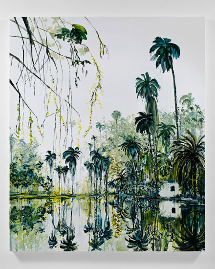 Kirsten Everberg, The Congo, 2011, oil and enamel on canvas, 72 x 60 inches, 182.9 x 152.4 cm