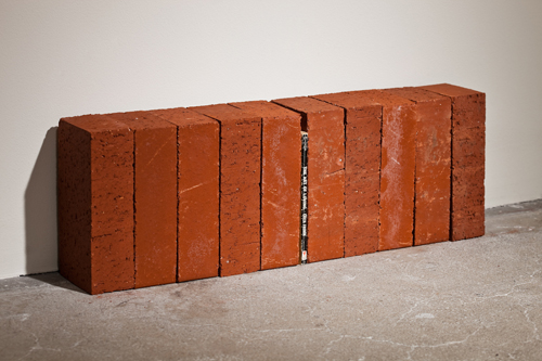 Jorge Mendez Blake, The Art of Loving, 2009, 10 bricks and book, 24 x 8 x 4 in., Edition of 10