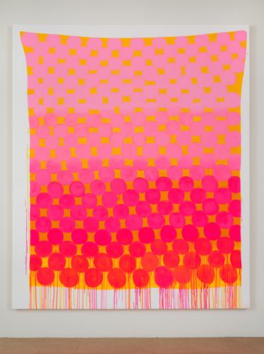 Judy Ledgerwood, Monster Love, 2010, Oil on canvas, 96 x 80 in. (243.8 x 203.2 cm)