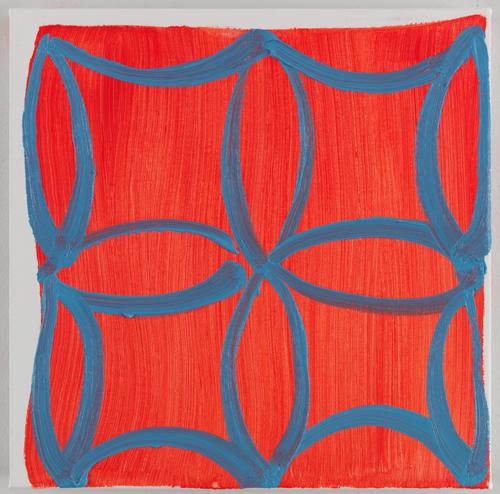 Judy Ledgerwood, Hot Sun Cool Shade, 2010, Oil on canvas, 15 x 15 in.