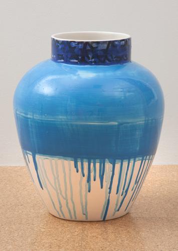 Judy Ledgerwood, Ceramic #7, 2010, Glazed ceramic, 16 x 12 x 12 in. (40.6 x 30.5 x 30.5 cm)