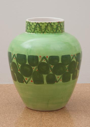Judy Ledgerwood, Ceramic #6, 2010, Glazed ceramic, 16 x 12 x 12 in. (40.6 x 30.5 x 30.5 cm)