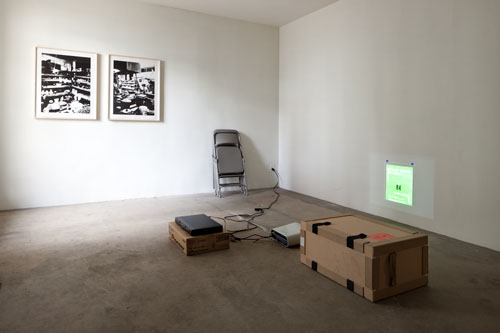 Lyall&Rayne, Rationalisme Applique, 2010, DVD, Picpac crate, projector, poster, The Potter's Studio (diptych)