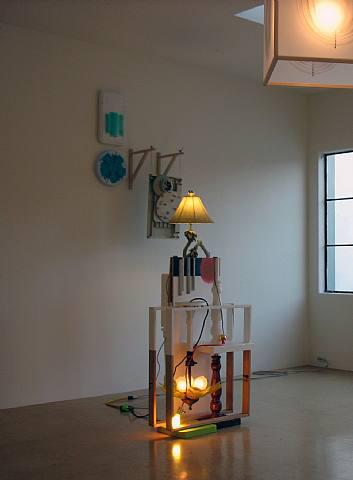 Jessica Stockholder, Untitled, 2006, Mixed media, 104 x 47 x 63 in. (264.2 x 119.4 x 160 cm)