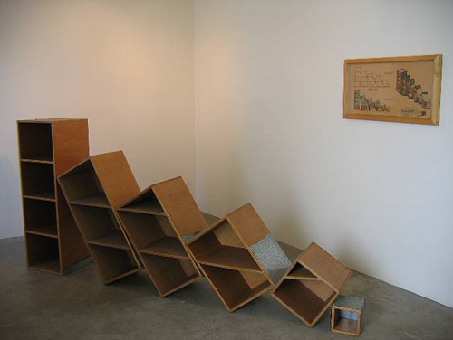 Jorge Pardo, Emmanuel's Display for the Gallery, 1991, Mixed media, 108 x 48 x 12 in.