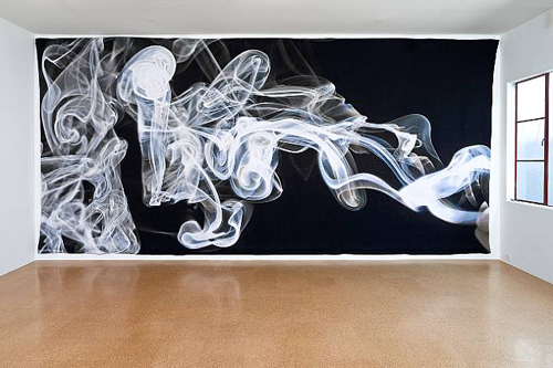 Pae White, Smoke Knows, 2009, Tapestry, 114 x 258 in.