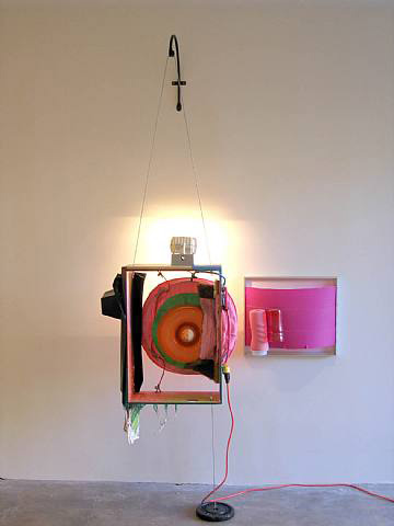Jessica Stockholder, Two Frames, 2007, Mixed media, 93 x 51 x 22 in. (236.2 x 129.5 x 55.9 cm)