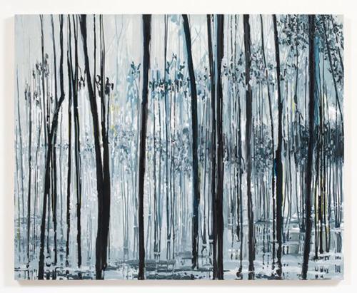 Kirsten Everberg, Dnieper River, Crossing (After Tarkovsky), 2008, Oil & enamel on canvas on panel, 4 x 5 ft