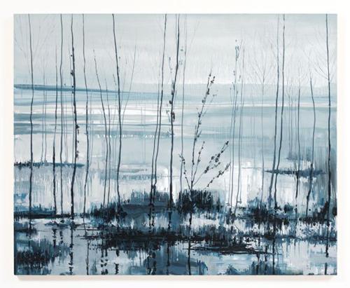 Kirsten Everberg, Dnieper Rover, Flare (After Tarkovsky), 2008, Oil & enamel on canvas on panel, 4 x 5 ft
