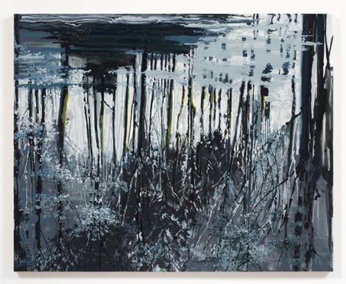 Kirsten Everberg, Dnieper River, Reflection (After Tarkovsky), 2008, Oil & enamel on canvas on panel, 4 x 5 ft