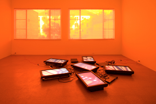 Diana Thater, Untitled Video Wall, 2008, Six flat panel monitors