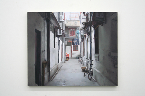 Paul Winstanley, Alley, 2007, Oil on linen, 24 x 28 3/4 in. (61 x 73 cm)