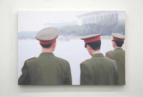 Paul Winstanley, Tienenmen Square, 2007, Oil on linen, 18 1/8 x 25 5/8 in. (46 x 65 cm)