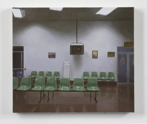 Paul Winstanley, Station, 2007, Oil on linen, 11 7/8 x 13 3/4 in. (30 x 35 cm)