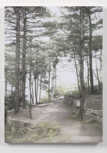 Paul Winstanley, Pines Above Jiuhua Shan, 2007, Oil on linen, 32 1/4 x 23 1/4 in. (30 x 35 cm)