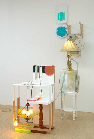Jessica Stockholder, Untitled, 2006, Mixed media, 104 x 47 x 63 in.