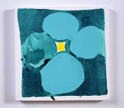 Judy Ledgerwood, Sudden Insight, 2007, Acrylic, gouache, and oil on canvas, 15 x 15 in.