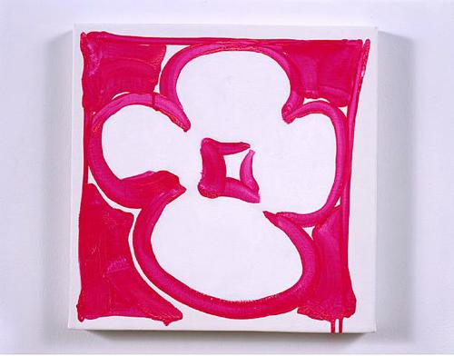 Judy Ledgerwood, Lil Hottie, 2007, Acrylic, gouache, and oil on canvas, 15 x 15 in.