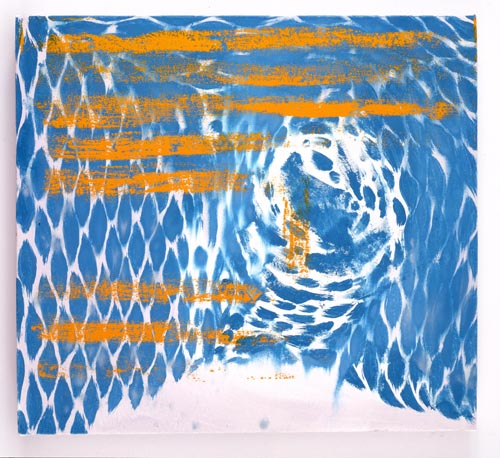 Charline von Heyl, Untitled (L.S. #1), 2007, Oil on canvas, 18 x 20 in. (45.7 x 50.8 cm)