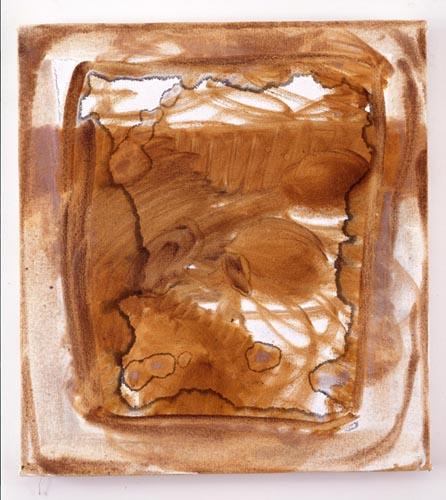 Charline von Heyl, Untitled (L.S. #2), 2007, Oil on canvas, 18 x 20 in. (45.7 x 50.8 cm)