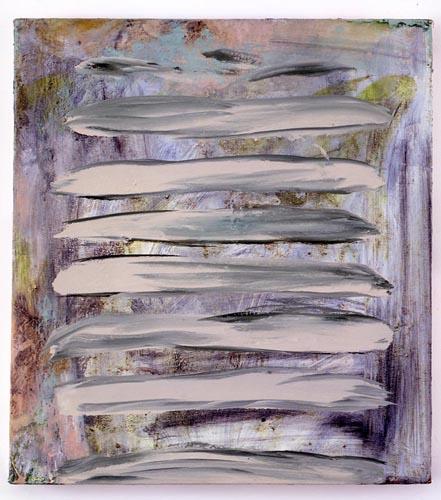 Charline von Heyl, Untitled (L.S. #3), 2007, Oil on canvas, 18 x 20 in. (45.7 x 50.8 cm)