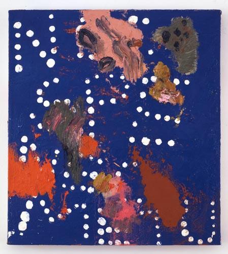 Charline von Heyl, Untitled (L.S. #5), 2007, Oil on canvas, 18 x 20 in. (45.7 x 50.8 cm)