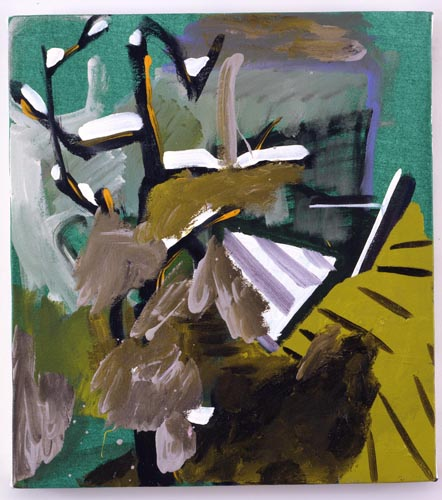 Charline von Heyl, Untitled (L.S. #6), 2007, Oil on canvas, 18 x 20 in. (45.7 x 50.8 cm)