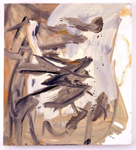 Charline von Heyl, Untitled (L.S. #7), 2007, Oil on canvas, 18 x 20 in. (45.7 x 50.8 cm)
