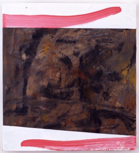 Charline von Heyl, Untitled (L.S. #8), 2007, Oil on canvas, 18 x 20 in. (45.7 x 50.8 cm)