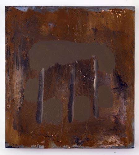 Charline von Heyl, Untitled (L.S. #9), 2007, Oil on canvas, 18 x 20 in. (45.7 x 50.8 cm)