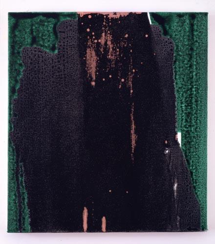 Charline von Heyl, Untitled (L.S. #10), 2007, Oil on canvas, 18 x 20 in. (45.7 x 50.8 cm)