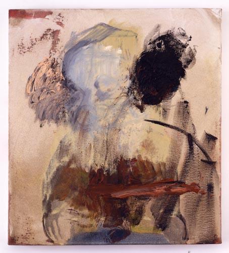 Charline von Heyl, Untitled (L.S. #11), 2007, Oil on canvas, 18 x 20 in. (45.7 x 50.8 cm)