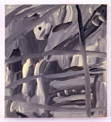 Charline von Heyl, Untitled (L.S. #12), 2007, Oil on canvas, 18 x 20 in. (45.7 x 50.8 cm)