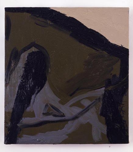 Charline von Heyl, Untitled (L.S. #13), 2007, Oil on canvas, 18 x 20 in. (45.7 x 50.8 cm)