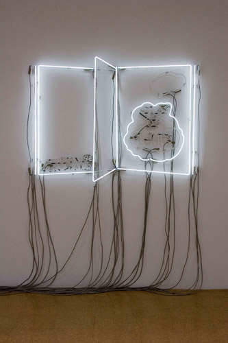 Philippe Parreno, Atlas of Clouds, 2005, Neon light, transformers, switchers, 39 x 61 in.