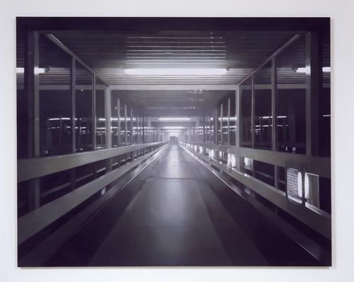 Paul Winstanley, Night Walkway 4, 2005, Oil on canvas, 75 x 95 1/2 in.