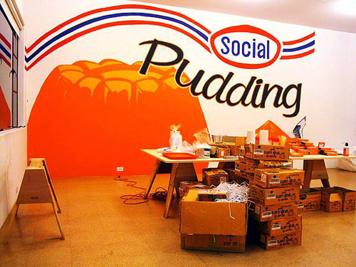 Social Pudding, Installation view, 2004