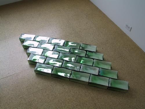 Pae White, White Gimlet, 2003, Blown glass bricks
